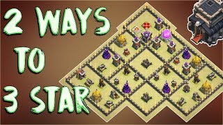 2 Way To 3 STAR This Popular & Strong Town Hall 9 ( TH9 ) War Base Of 2017 | Clash Of Clans