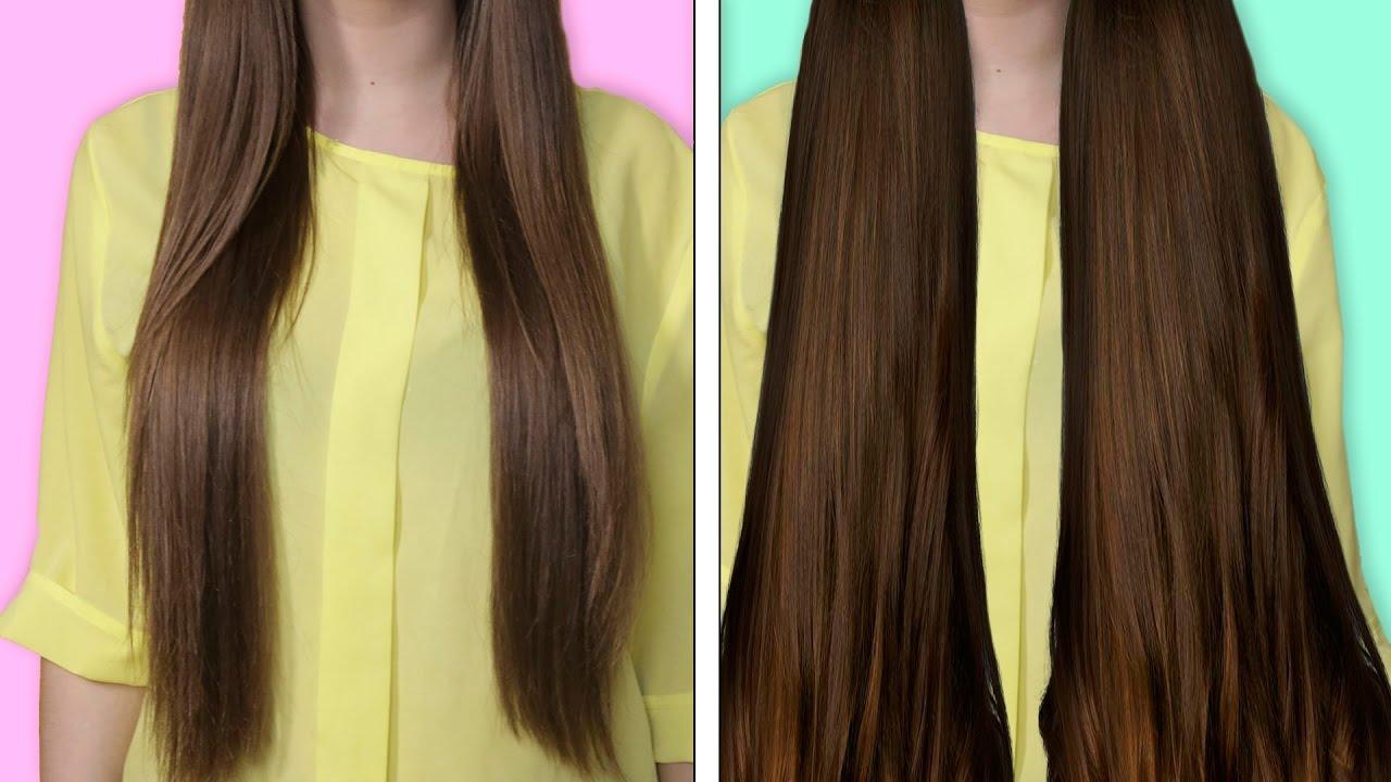 Как сделать волосы густыми видео фото 222