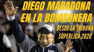 Diego Maradona en La Bombonera! Recibimiento desde la tribuna (2020)