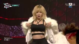 Repeat youtube video 131107 Trouble Maker - Now - M Countdown - Hyuna & Hyunseung