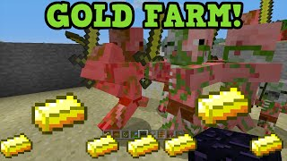 Minecraft Xbox 360 + PS3 Gold Farm Tutorial - Zombie Pigman Farming