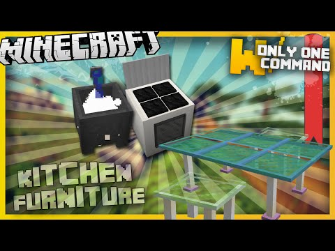 Minecraft - Kitchen furniture with only two command blocks