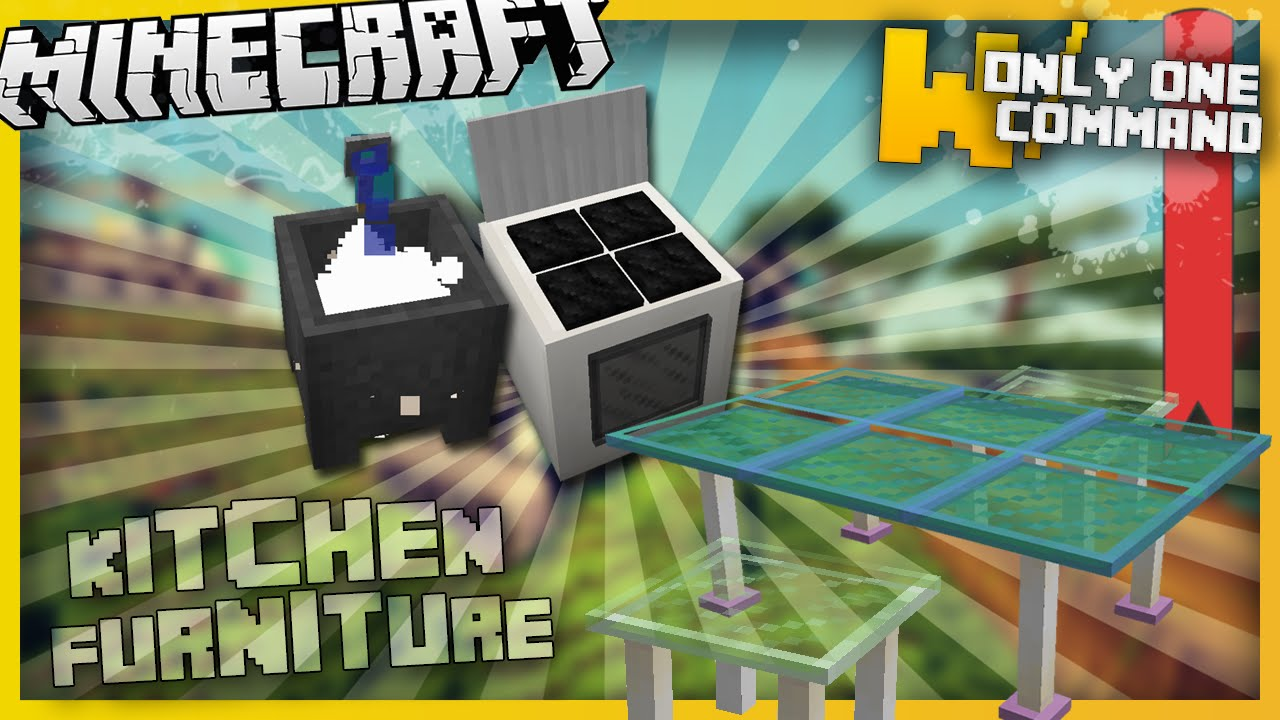 kitchen sink minecraft minecraft kitchen furniture with only two command blocks 2787