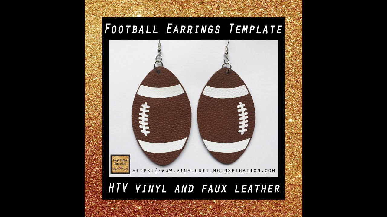 Diy How To Make Football Earrings With Htv Vinyl And