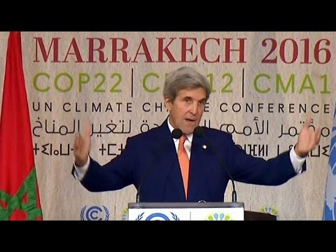 US Secretary of State John Kerry  Climate Action Speech in Morocco  Nov. 16, 2016.