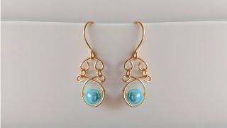diy earrings/making beautiful wire wrapped pearl earrings/jewelry making