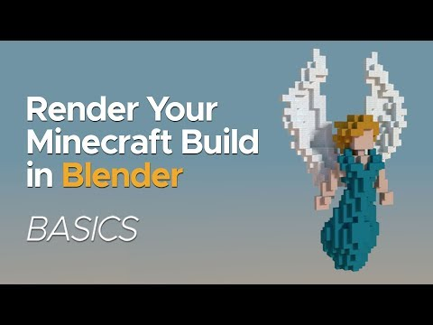 How To Render Minecraft Builds In Blender (2.79) | Basics Tutorial
