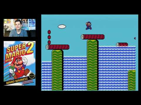 Super Mario Bros 2 (NES 1988) MARIO ONLY - Mike Matei live s