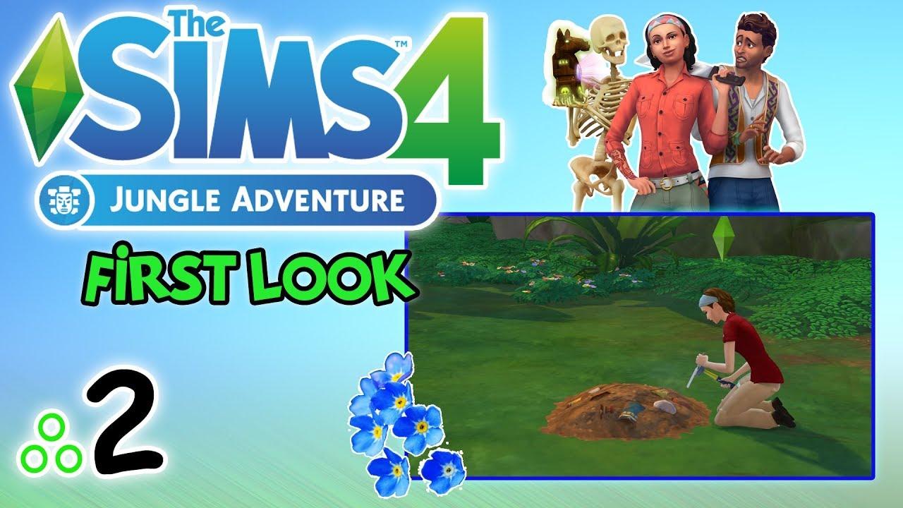 """First Look #81: The Sims 4: Przygoda w dżungli odc. 2 – """"Wykopki i Simrumba"""" [PL]"""