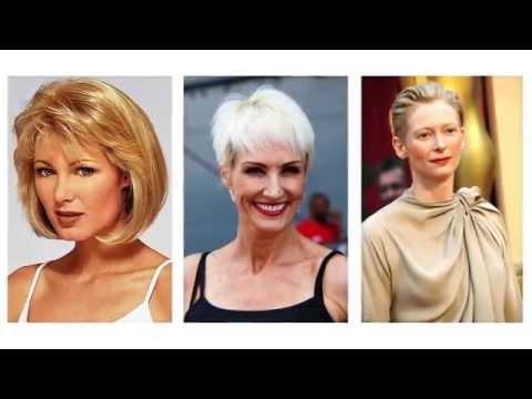 Hermoso peinados que rejuvenecen a los 50 Fotos de consejos de color de pelo - Cortes de pelo corto para mujeres de 50 años - YouTube