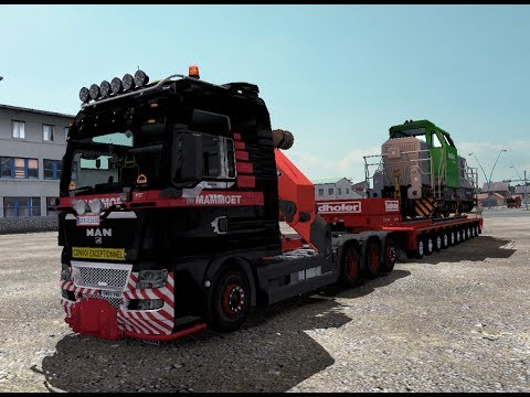 ETS 2 | MAN TGX 2010 8 x 4 Mammoet Heavy Transport Goldhofer Multi Axle Locomotive Demak - Pemalang