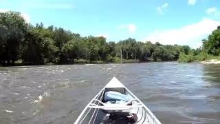 4hp motor on canoe.