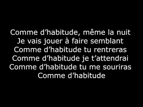 M. Pokora - Comme d'habitude (Paroles / Lyrics)