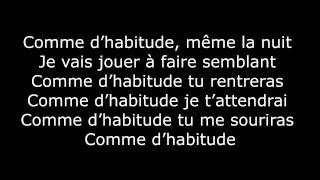 M. Pokora - Comme d'habitude (Paroles / Lyrics)