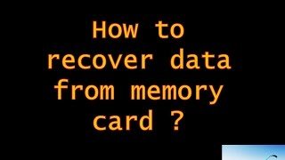 How to recover data from memory card ? Restore SD card deleted data.