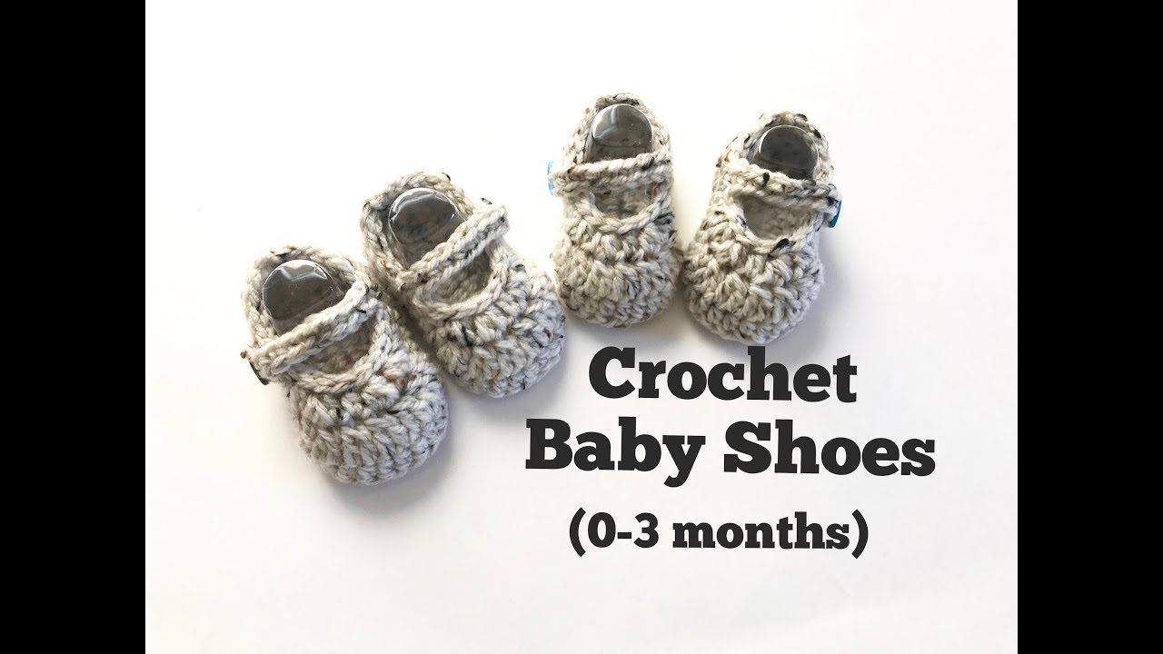 e2675eecbfc9 Crochet Mary Jane Shoes   crochet baby shoes (0-3 months) - YouTube