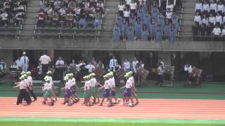熊本県 高校総合体育大会開会式2014 81八代高専 82ひのくに高等支援 各学校の吹奏楽団
