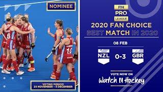 New Zealand v Great Britain | Match 10 | Women's FIH Hockey Pro League Highlights