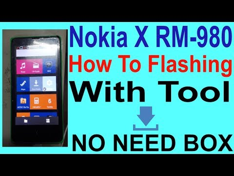 How To Flashing Nokia X RM-980 Without Box.