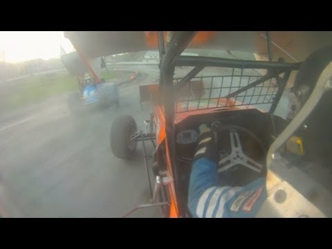 Dan Douville #7x In-Car SCoNE Heat + Feature @ Canaan Dirt Speedway 7-3-2013