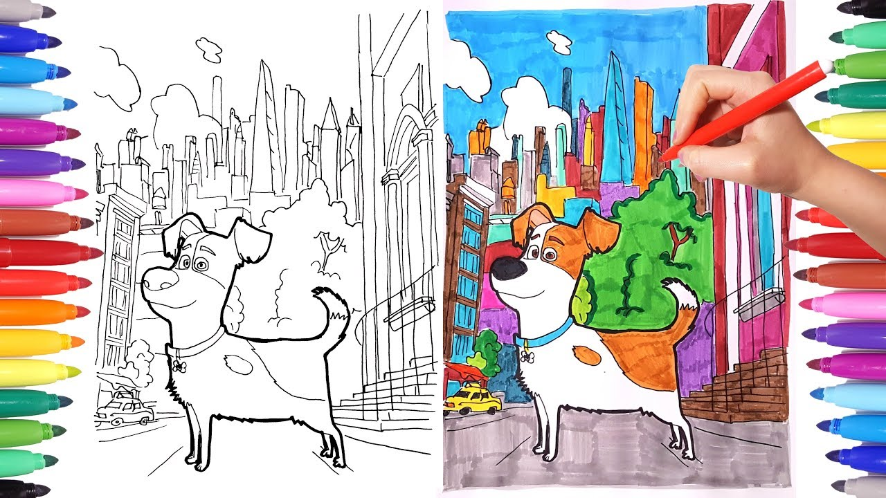 The Secret Life Of Pets Coloring Pages For Kids Drawing