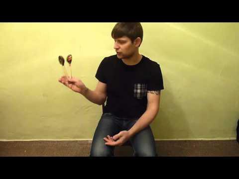 Как играть на ложках видео урок одной рукой