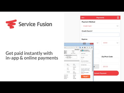 Service Fusion: Get paid instantly with in-app & online payments