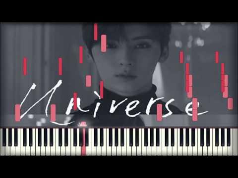 MINHYUN (NU'EST) - Universe  별의 언어 | Piano Tutorial | Karaoke