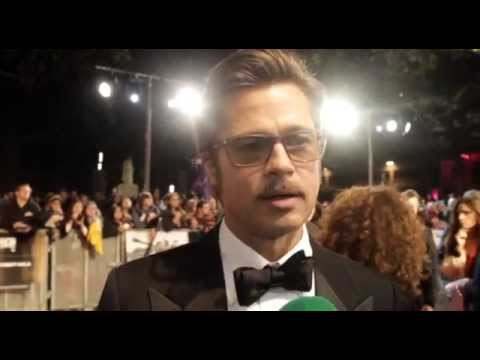 Brad Pitt On Getting Punched In The Face By Shia LaBeouf!  Two Tube