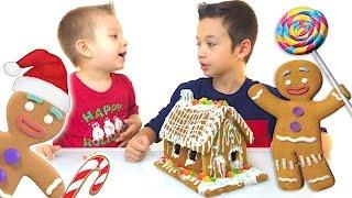 Как Сделать ДОМИК из ПРЯНИКОВ Делаем Своими Руками Новогоднее Видео Для Детей Gingerbread House