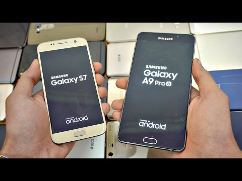 Samsung Galaxy A9 Pro (2016) vs Galaxy S7 Android 7.0 Nougat - Speed Test! (4K)