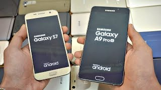 Samsung Galaxy A9 Pro 2016 vs Galaxy S7 Android 7.0 Nougat Speed te...