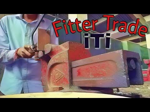 🛠️🔨Work of Fitter trade , Make a'V'shape fitting job, iti ,: inder kumar⚒️🔧:;
