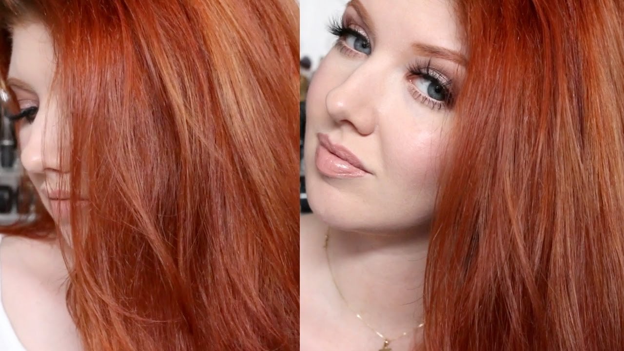 Hair Color Tutorial My Copper Red Shade Challenge Youtube