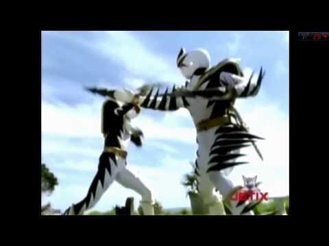 Power Rangers Dino Trovão - Trent vs Ranger Branco Maligno [Dublado]