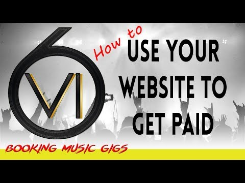 Paid Gigs and Shows Using Your Website!