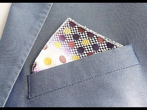 Jak složit kapesník do saka - Trojúhelník