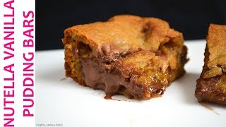 Nutella Vanilla Pudding Bars | RECIPE