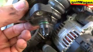 VW Golf 5, 1.9TDI how to change MAP sensor /turbo problem/ faults P0238, P0113