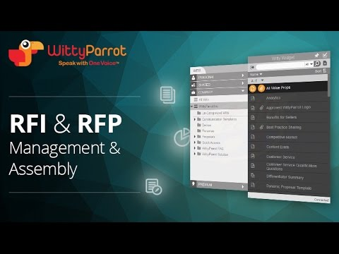 WittyParrot for RFI and RFP Management and Assembly