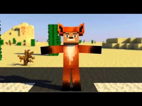 minecraft animation what does the fox say youtube