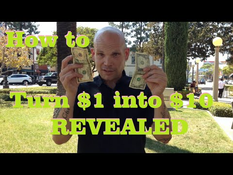 How to turn a $1 into $10 Magic Trick REVEALED!