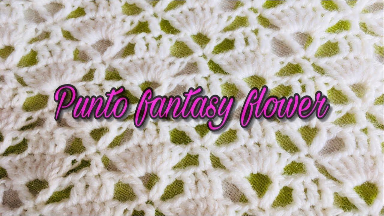 Uncinetto Punto Fantasia Fantasy Flower Youtube