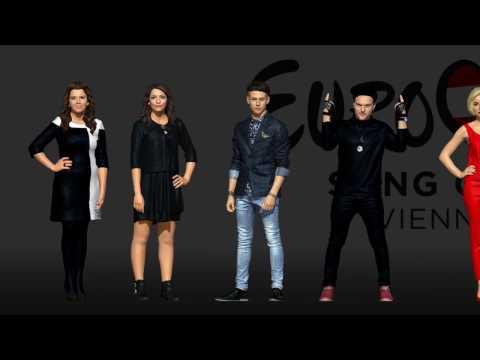 Участники Евровидения 2015 в 3D