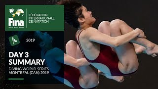 Day 3 - Montreal (CHN) | FINA/CNSG Diving World Series 2019