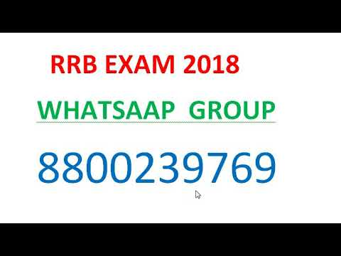 RRB EXAM 2018 JOIN WHATSAPP GROUP