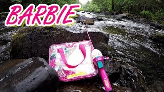 Fishing With A Barbie Rod - 5 Bass Challenge!