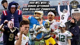 2020 NFL Week 7 Game Highlight Commentary | Sunday Afternoon Games | Chiseled Adonis
