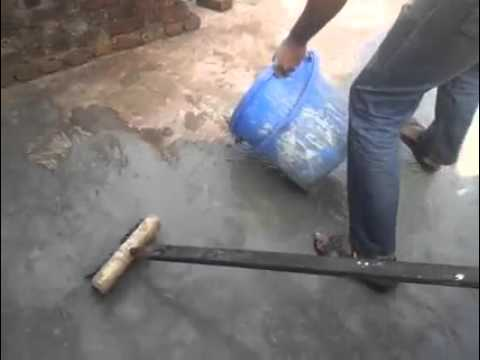 1 Grouting A Leaking Flat Concrete Roof Youtube