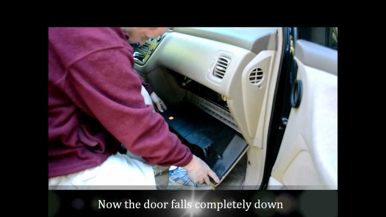 honda odyssey cabin air filter change  how to video